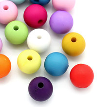Doreen Box Acrylic Spacer Beads Round Mixed 10mm Dia,Hole:Approx 2mm,100PCs (B24540)