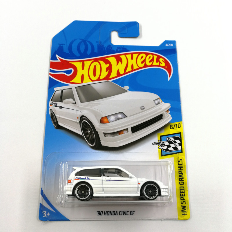 2019 Hot Wheels 1:64 Car 90 HONDA CIVIC EF Collector Edition Metal Diecast Cars Collection Kids Toys Vehicle For Gift