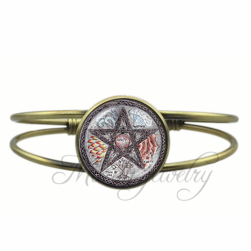 Buy Pentagram Open Cuff Bangle 2017 New Design Accessories Romantic Bracelet Charms Jewelry Gifts for Men and Women for $3.59 in AliExpress store