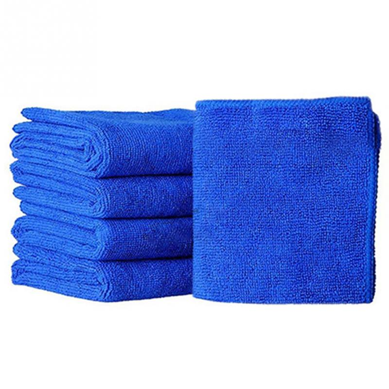 Auto Care 5pc Ultra Soft Microfiber Towel Car Washing Cloth for Car Polish& Wax Care Styling Cleaning Microfibre 25*25cm # 0712