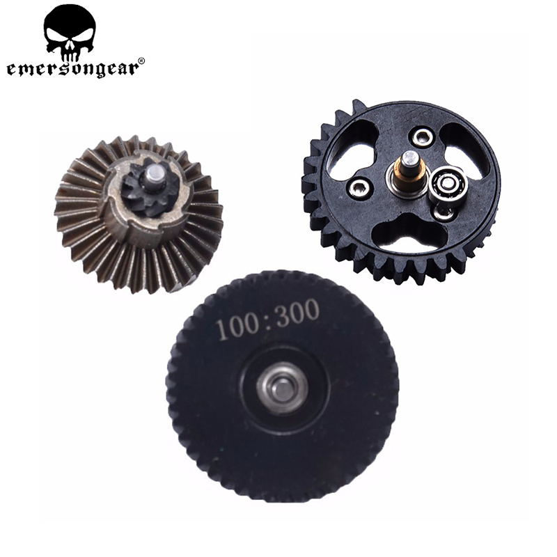 EMERSONGEAR BD Super Highspeed 3 Bearing Gear 100:300 Reinforcement Helical Super Torque Gear Set AEG Airsoft Gearbox BD4772EEMERSONGEAR BD Super Highspeed 3 Bearing Gear 100:300 Reinforcement Helical Super Torque Gear Set AEG Airsoft Gearbox BD4772E
