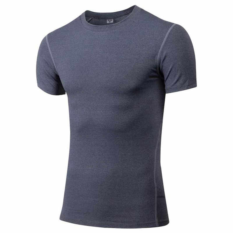 Mannen Pro Quick Dry Workout Gymming Lange Top Tee Sporting Loopt Yogaing Comprimeren Fitness Oefening T-shirts Kleding T-shirt V1003