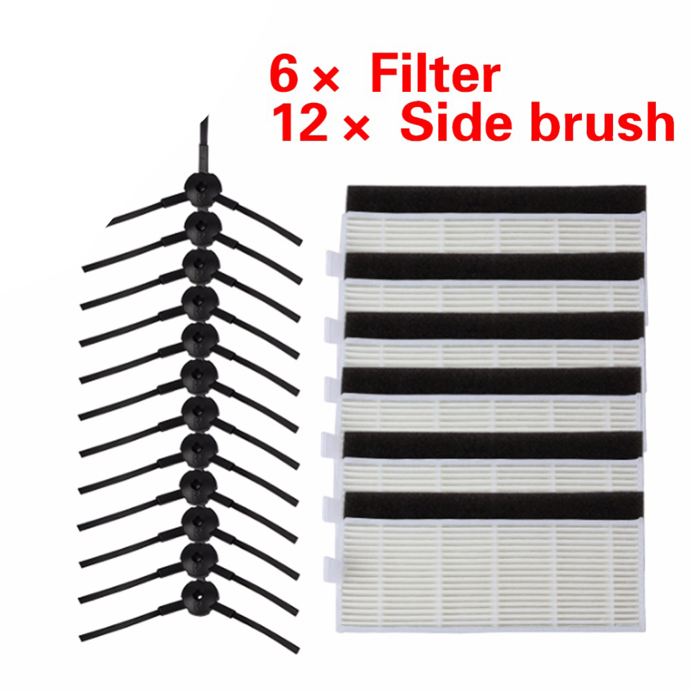 24pcs/set High quality Brush & Filters for ILIFE A4 Cleaning Robot Replacement chuwi ilife A4 Robot Vacuum Cleaner hepa filter 1pcs lot j112y imitation of brass wire brush for cleaning and polishing wooden brush diy using high quality on sale