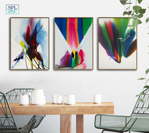 Image 2 - Watercolor Canvas Art Print Ink Painting Abstract Chinese Graffiti Artwork Posters Modern Fashion Home Decoration Wall Pictures