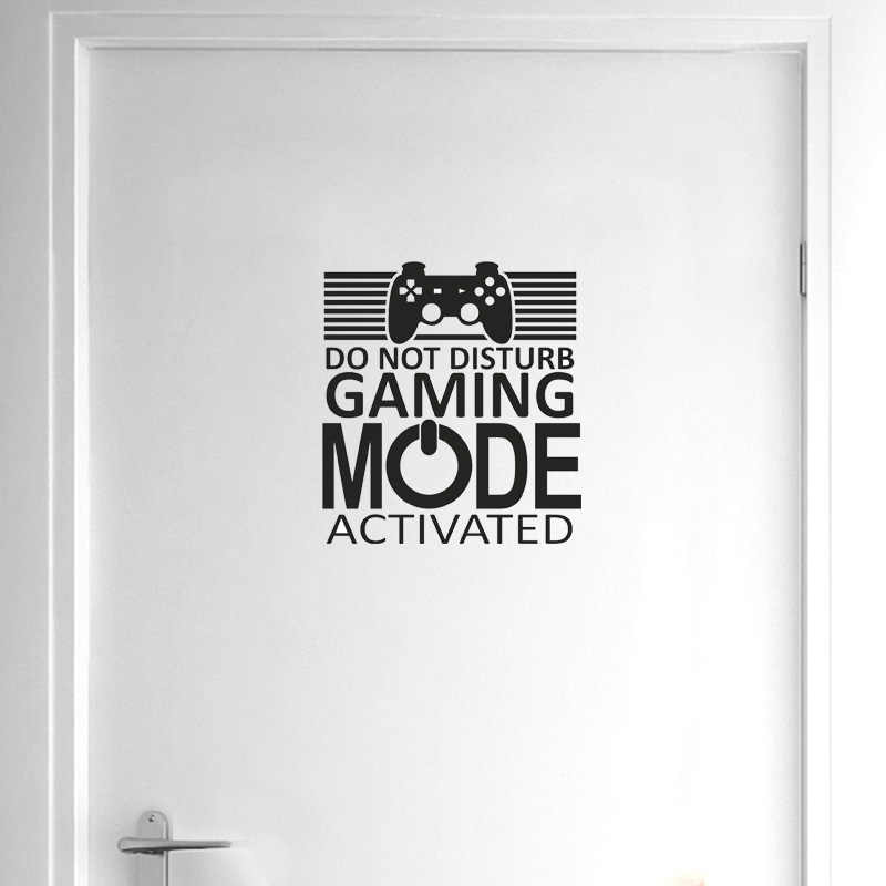 YOJA 22.7*25CM GAMER DO NOT DISTURB GAMING MODE ACTIVATED Wall Sticker Home Door Decor D1-0045