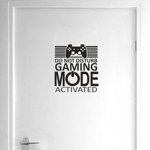 Yoja 22.7*25cm gamer não perturbe o modo de jogo ativado adesivo de parede decoração da porta casa D1-0045