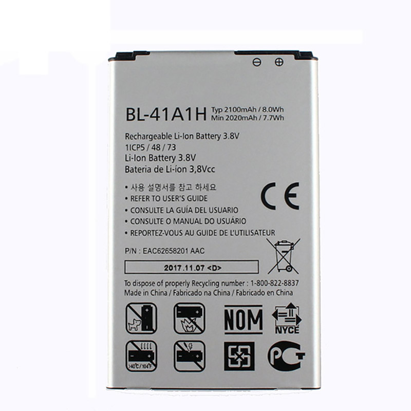 Original High Capacity BL-41A1H Internal <font><b>Battery</b></font> for <font><b>LG</b></font> Optimus F60 MS395 D390N Tribute VS810PP Transpyre LS660 <font><b>2100mAh</b></font> image
