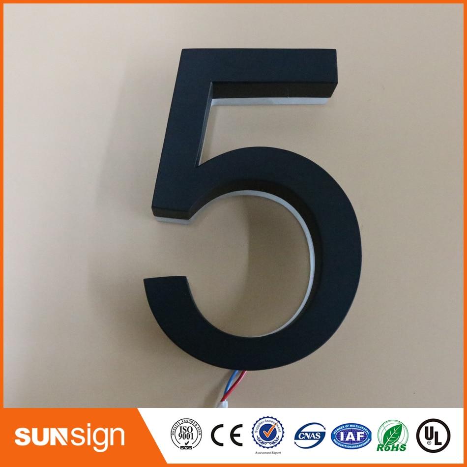Custom House Number Acrylic Led Letters Backlit LED Letter Signs