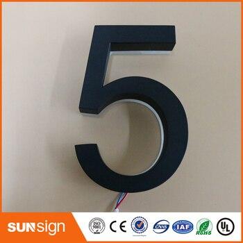 H 30cm Custom house number acrylic led letters backlit LED letter signs - sale item Electronic Signs