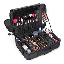 Women Professional Makeup Organizer Large Capacity Multilayer Clapboard Cosmetic