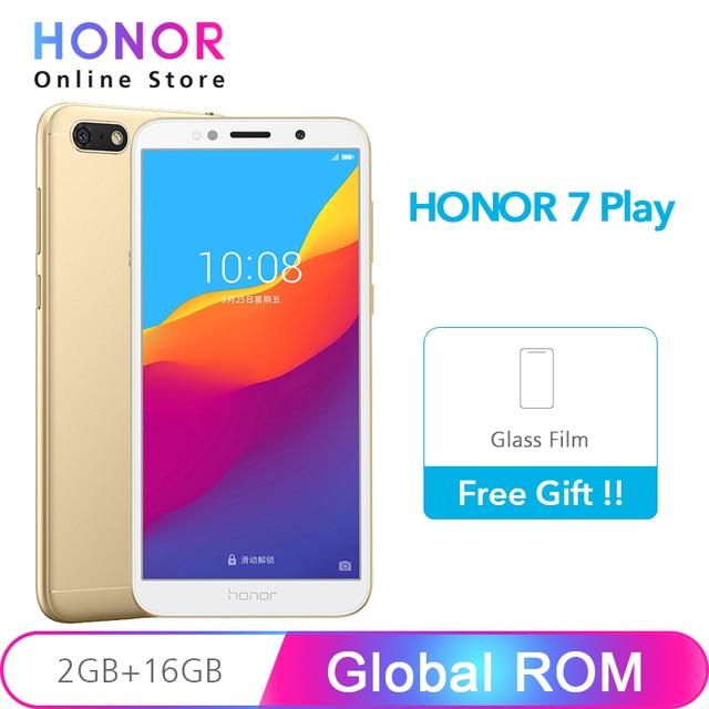"""Глобальная ПЗУ Honor 7 Play 5,45 """"Fullview 2 Гб 16 Гб Смартфон MT6739 четырехъядерный Android 8,1 13MP камера 3020 мАч Google Play"""