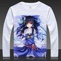 Camisetas Anime touhou Project Hakurei Reimu Imprimir Manga Larga Camiseta FLANDRE TopsKirisame Marisa Otoño Tees de Dibujos Animados