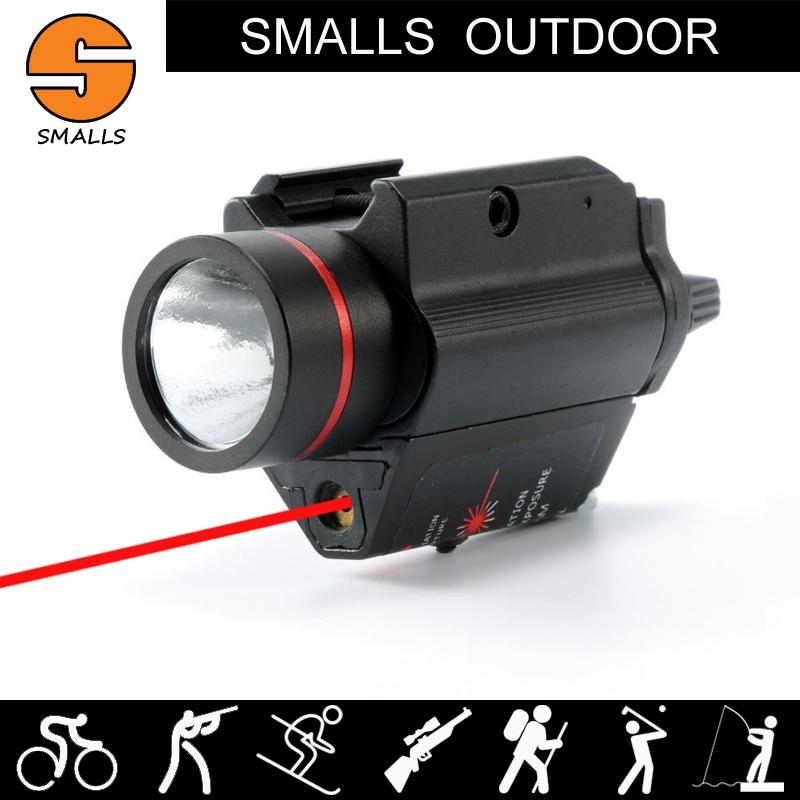 arma de caca ao ar livre luz tatico fleshlight m6 led lanterna combo laser vermelho vista