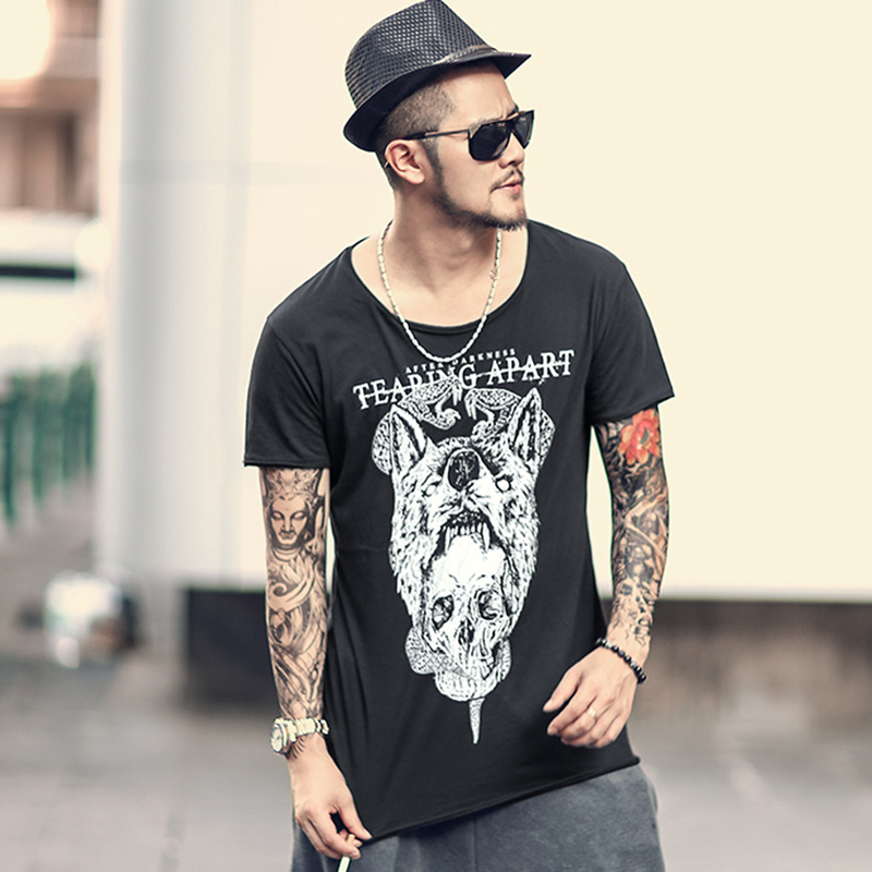 SportsX Mens Casual Fashion Skull Summer Floral Printed Hooded Tank Top