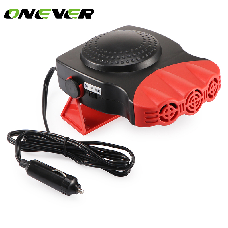 Onever Auto Heater 2in1 Car Truck 12 V Car Demister Defroster Cool Fan Windscreen