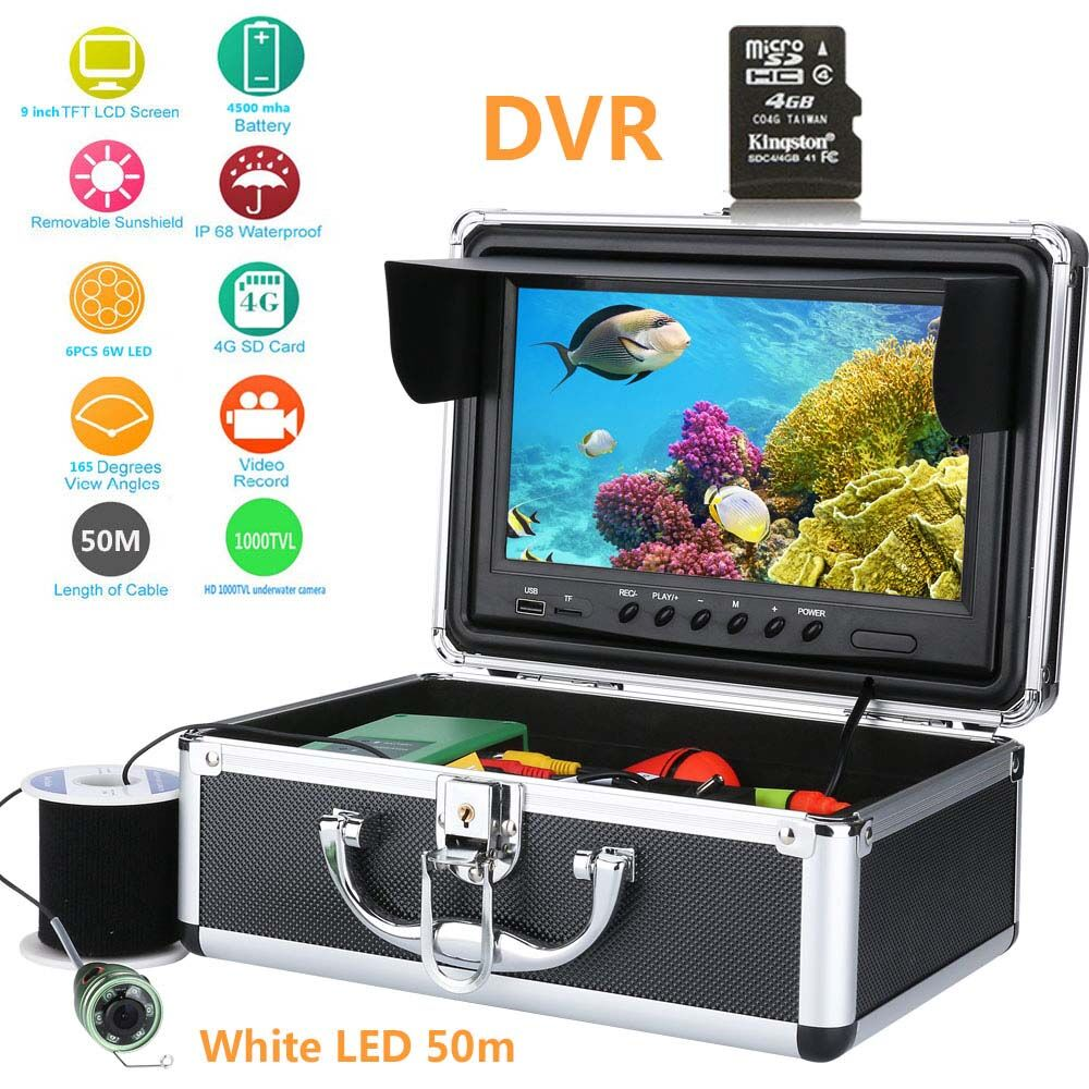 Security & Protection Analytical 50m 30m 15m 9inch Underwater Fishing Video Camera 1000tvl Fish Finder Hd Dvr Recorder Waterproof Fishing With 6pcs 1w Ir Leds To Be Highly Praised And Appreciated By The Consuming Public