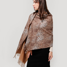 Leopard Print Scarf Women 2019 New Two-sided Cashmere Scarves Winter Warm Blanket Long Tassels Pashmina Solid Shawls and Wraps
