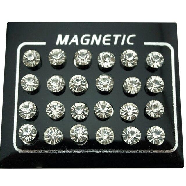 REGELIN 12 Pair lot 4 5 6 7mm Round Crystal Rhinestone Magnet Stud Earring Puck Women.jpg 640x640 - REGELIN 12 Pair/lot 4/5/6/7mm Round Crystal Rhinestone Magnet Stud Earring Puck Women Mens Magnetic Fake Ear Plug Jewelry