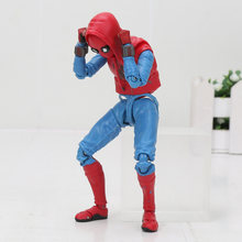 SHF os vingadores S. H. Figuarts Homem Aranha Spiderman Casa Terno Feito do Regresso A Casa Ver. PVC Action Figure Collectible Modelo Toy presente(China)