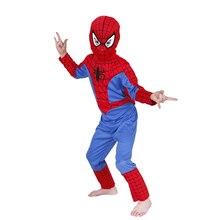 ходовой  товар классика комиксов Marvel Человек-паук Детский костюм дети мальчики фантазия Хэллоуин Фэнтези супергерой карнавал Нарядное вечернее платье