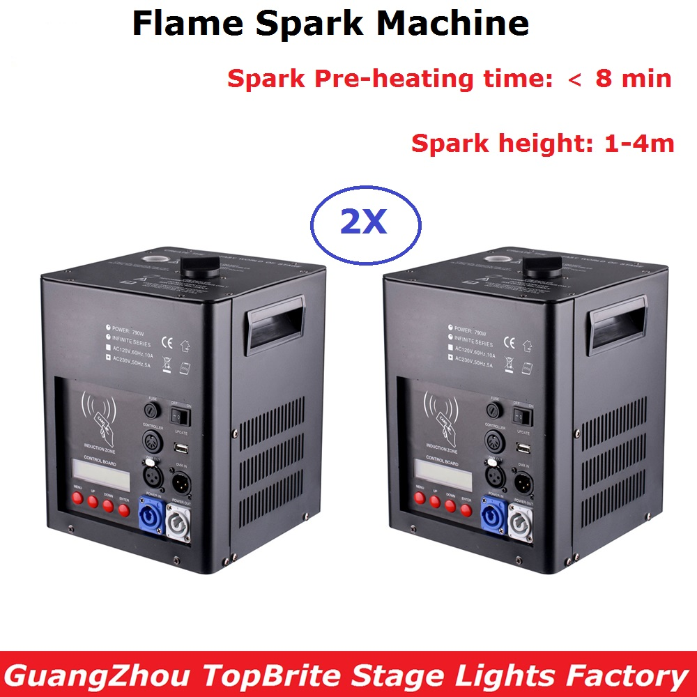 DMX/Remote Control Cold Spark Fountain Machine Indoor / Outdoor Firework Sparkler Machine For Professional Stage Lighting Effect china cold firework machine indoor wedding fountain dmx display spark system fireworks machine