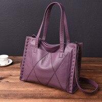 High Quality Genuine Leather Women's Handbags Fashion Big Size Tote Bags For Women Messenger Bags Ladies Shoulder Bag