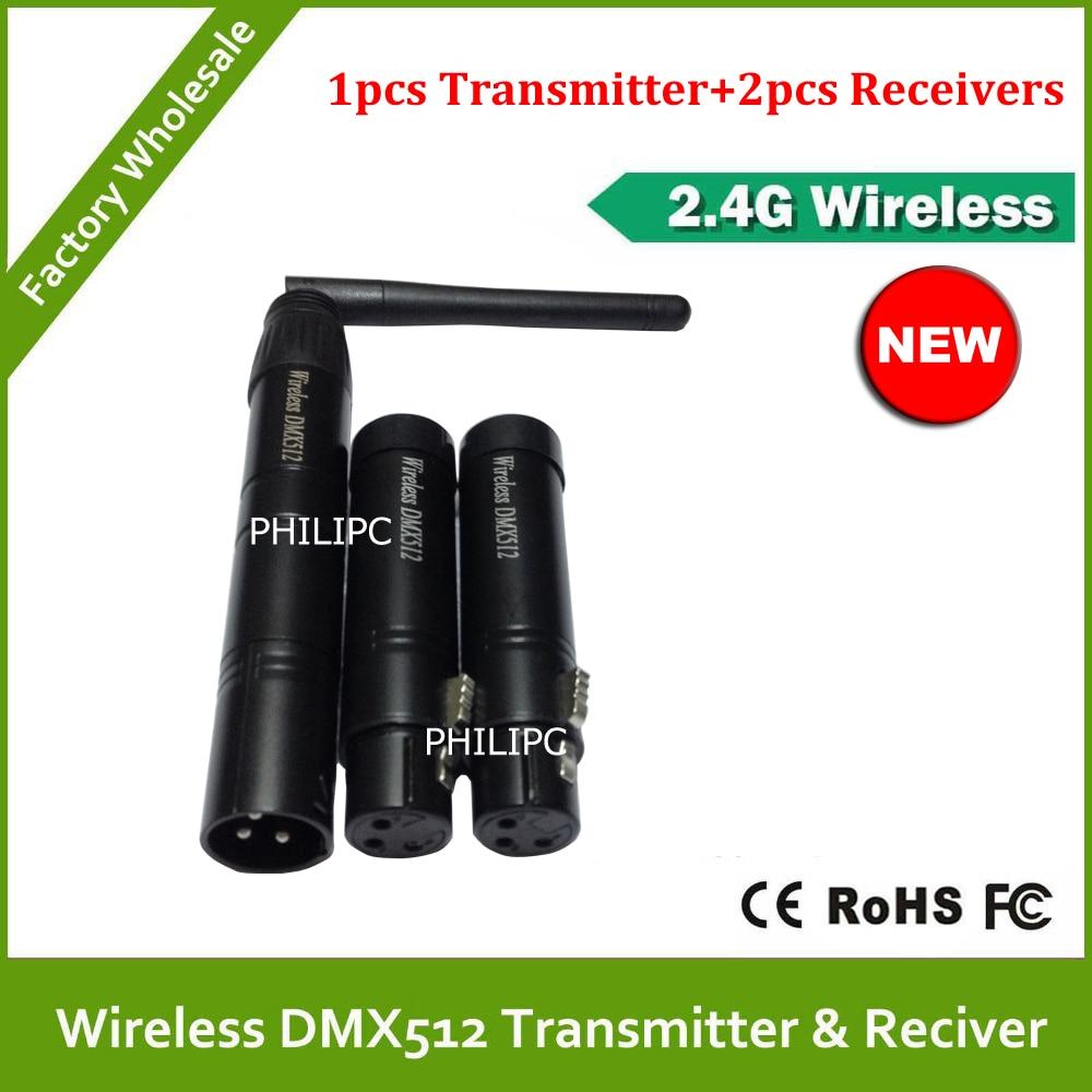 DHL/EMS 2.4G Wirelesswireless dmx512 transmitter & receiver wireless dmx battery power 3PCS dhl ems keyence lv 11sb a2