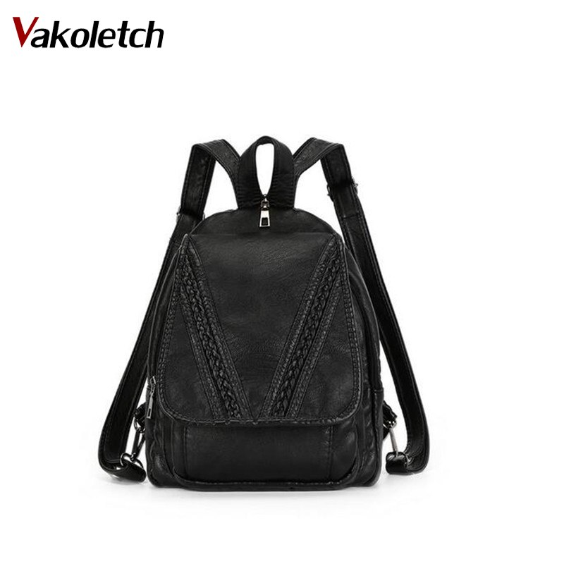 Brand Designer Backpacks For Teenage Girls High Quality Very Soft PU Leather Backpacks For Women