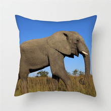 Fuwatacchi Animal Series Throw Pillow Cover Lion Print Cushion Cover Elephant Pillow Cover Home Bedroom Decorative Pillowcase animal print pillow cover