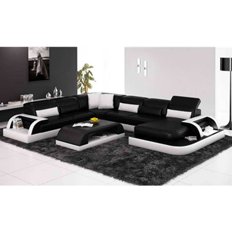 Relaxing Living Room Furniture House Cheap Leather Sofa-in