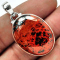 Hand make  Genuine Mahagony Pendant 100%  925  Sterling Silver 42 MM 8 7G KP0421