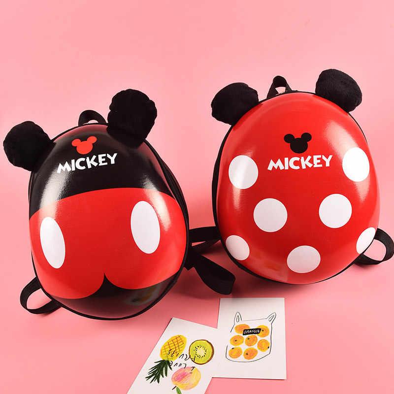 Disney Hardshell Mochila Casca de ovo de Mickey Minnie Dos Desenhos Animados do jardim de Infância das Crianças Menino e Menina Mochila Bonito