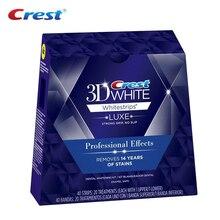 Tiras de clareamento dental 3d branco, efeitos profissionais para branqueamento de dentes, higiene oral, bolsa para sorriso 10/20