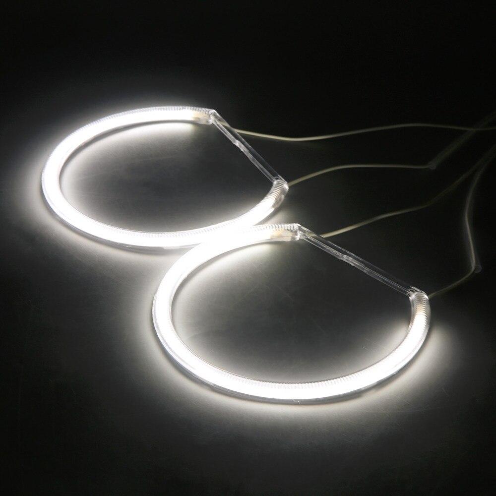 4PCS 12V LED Angel Eyes white Light Headlight font b Lamp b font Rings For BMW