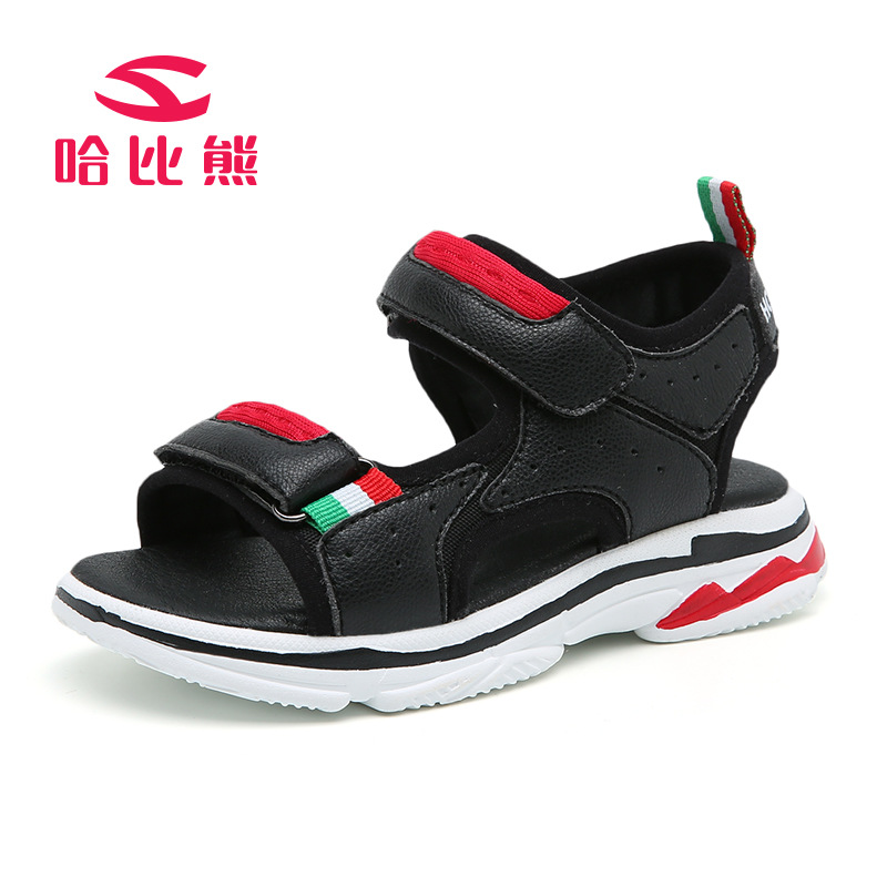 2018 Summer Beach Boy Sandals Kids Leather Shoes Fashion brand Sport Sandal Children Sandals For Boys Leather Casual Shoes