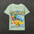 2016 Pokemon T-shirt cute boys clothing Short Sleeve cartoon pattern cotton boys clothes Pikachu Charmander children t shirts