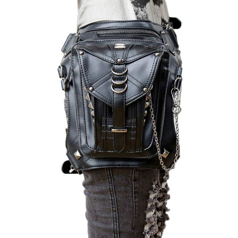 Nouveau sac femme Punk épaule croix corps extérieur multi-fonction tactique taille sac tendance personnalité taille sac