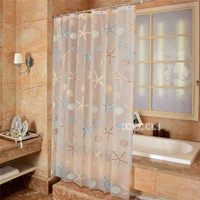 180*240cm New WaterProof Bath Curtain PEVA Shower Curtain Starfish Shell Pattern Home Curtains Bathroom Shower Curtain