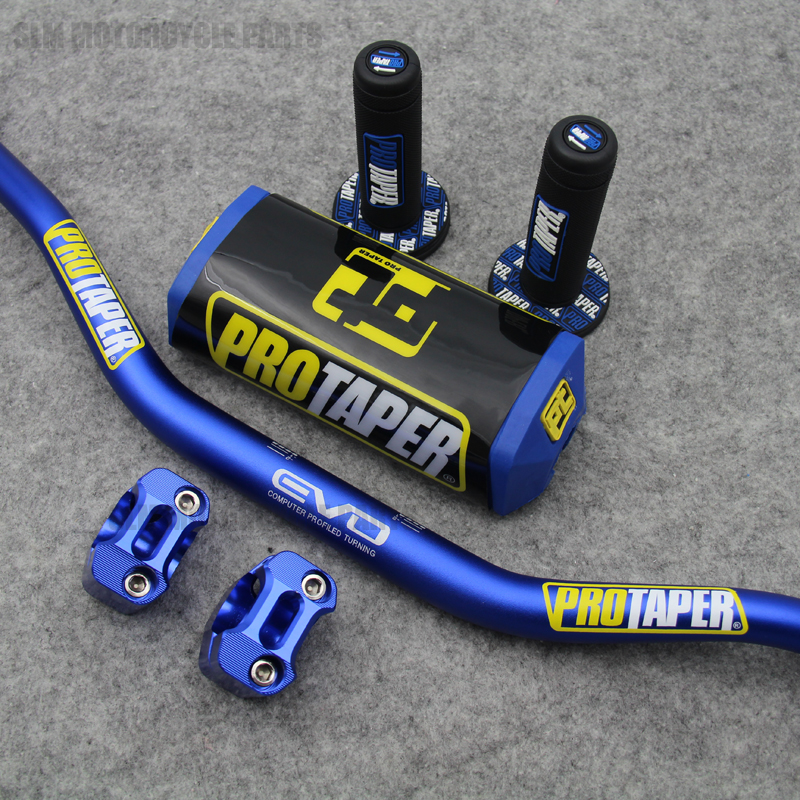 810mm Handlebar Pads Taper Handle Grips CNC Handlebar Clamp Fat Bar 1 1 8 Pit Bike