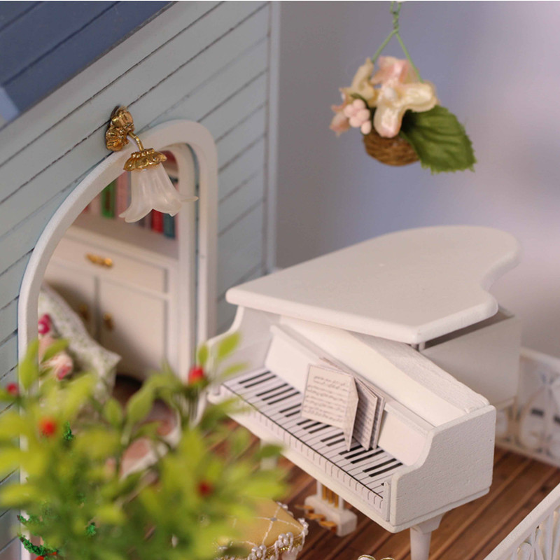 Home Decoration Crafts DIY Doll House Doll Doll Houses Miniature DIY - Anak patung dan aksesori - Foto 4