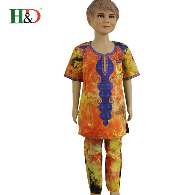 (Transporte livre) Africano new fashion boy roupa das crianças estilo de design África Dashiki estilo algodão Bazin materiais PH15