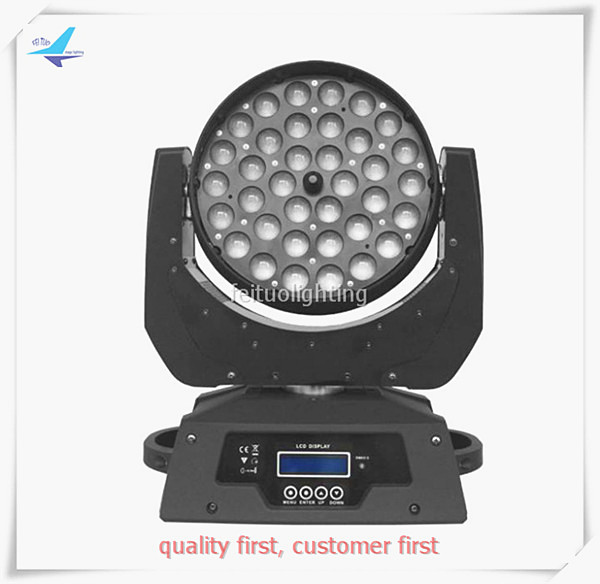 free shipping 6pcs/lot Stage Lumiere 36X10W Zoom LED Moving Head Lighting RGBW 4IN1 Sound Active DMX Wedding DJ Disco Light