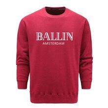 Neue herbst und winter sweatshirt ashion Herrenbekleidung Oansatz Ballin Amsterdam Grafik Baumwolle Lange ärmel Sweatshirts S-2XL