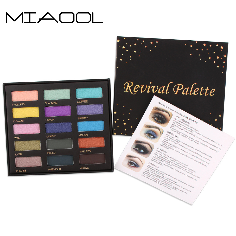 Miaool 15 Colorful Eyeshadow Palette matte palete eye shadow pigment luminous Glitter Natural Makeup Palette Eyeshadow in Eye Shadow from Beauty Health