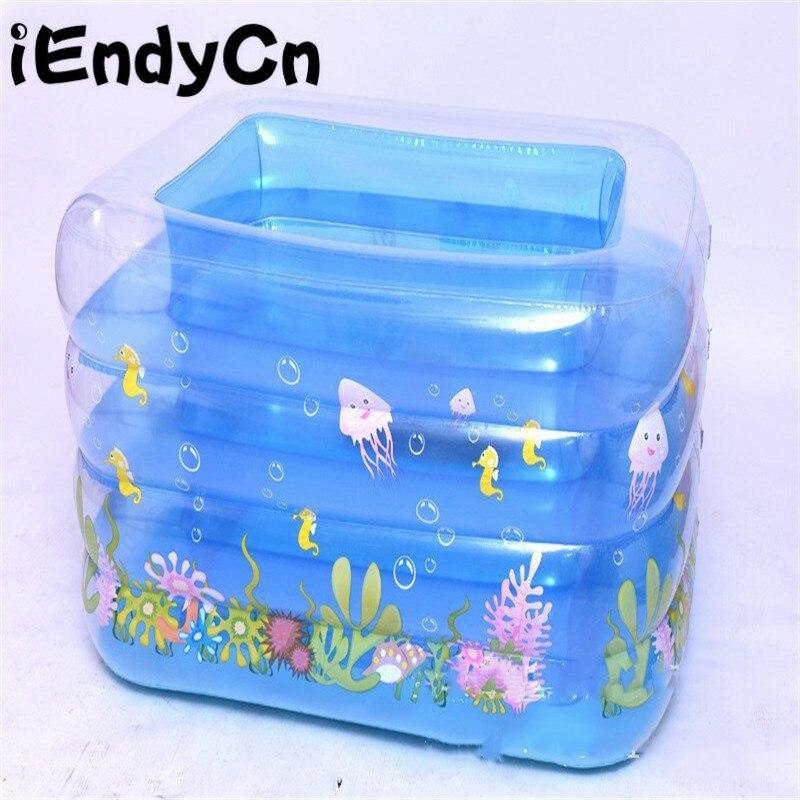 IEndyCn enfants jouant l'eau cristal piscine bébé gonflable carré épaissir piscine GXY212