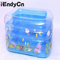 iEndyCn Children Playing Water Crystal Swimming Pool Baby Inflatable Square Thicken Swimming Pool GXY212