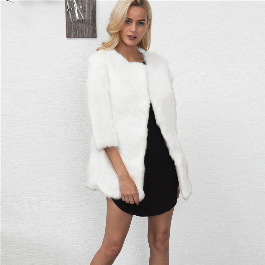 china wholesale pullover winter faux fox fur parka faux long hair coat