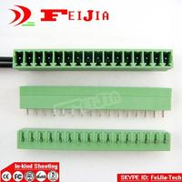 Free shipping (100pcs/lot) 15EDGK 3.81 16P + 15EDGVC 3.81 16P Straight Pin Screw Terminal Block Connector Pluggable type