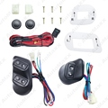 New Universal 12V/24V 3pcs Buttons Car Power Window Switches with Holder & Wire Harness #J-3938
