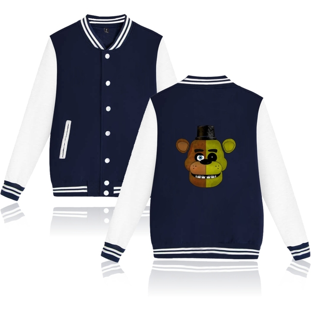 Fnaf jacket Five Nights At Freddys Jacket Autumn Long Sleeves Cartoon Bear FNAF Hoodie Men's Sweatshirts Fnaf